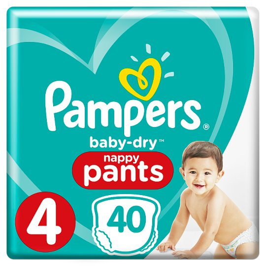 image 1 of Pampers Baby Dry Pants Size 4 Essential Pack 40 Nappies