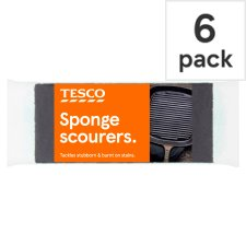 Tesco Sponge Pan Cleaners 6 Pack