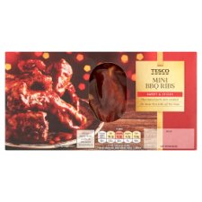 Tesco Mini Sticky Bbq Ribs 340G