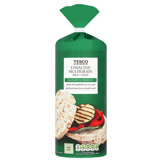 Tesco Unsalted Multigrain Rice Cake 130G