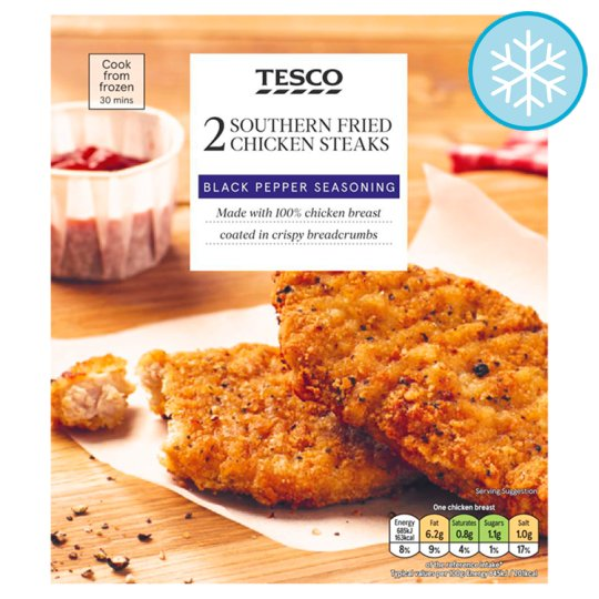 Tesco 2 Southern Fried Chicken Breast Portions 200G