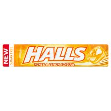 Halls Menthol Honey And Lemon Sugar Free 32G