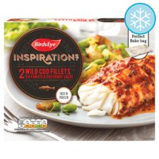 Birds Eye Inspirations 2 Cod Fillets Tomato Rosemary Sauce 280G