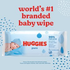 image 2 of Huggies Pure Baby Wipes Fragrance Free 12 Packs X56 Wipes