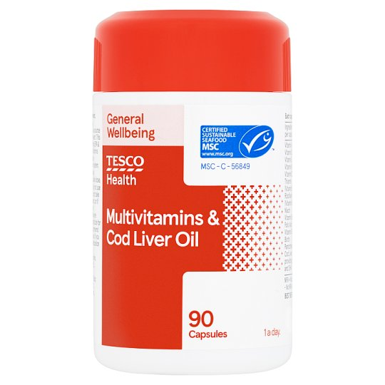 Tesco Multivitamins Plus Cod Liver Oil X 90