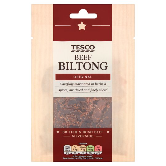 Tesco Biltong Original Snacks 40 G