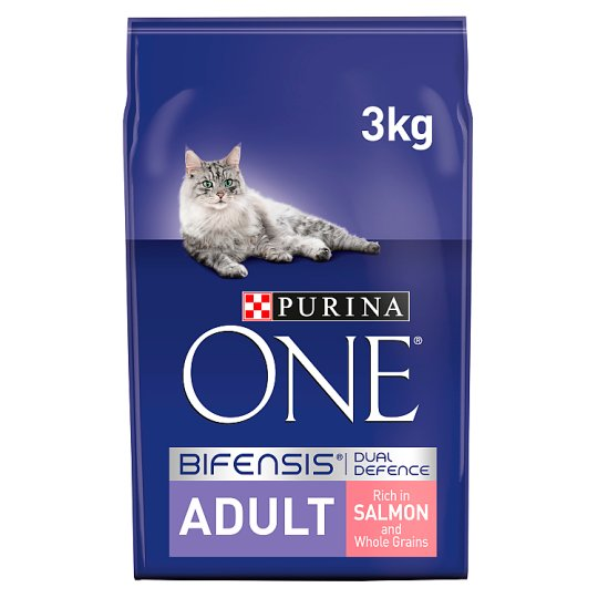 image 1 of Purina One Cat Adult Salmon And Whole Grain 3Kg