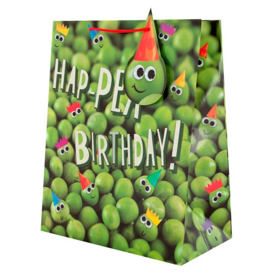 T Hap-Pea Birthday Bag Large