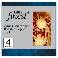 Tesco Finest Goats Cheese And Red Pepper Quiche 400G