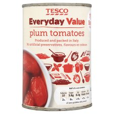 Tesco Everyday Value Plum Tomatoes 400G