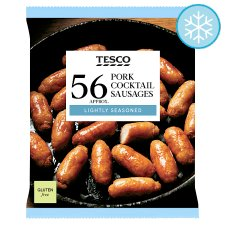 Tesco 56 Pork Cocktail Sausages 672G