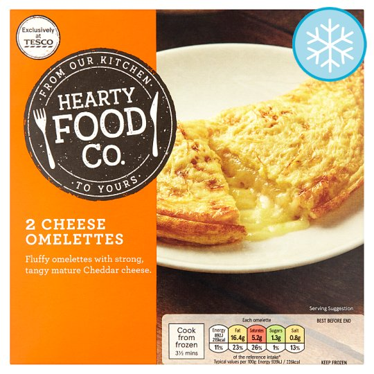 Hearty Food Co. 2 Cheese Omelettes 200G