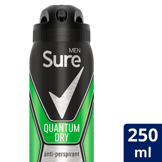 Sure Men Quantum Antiperspirant Deodorant 250Ml