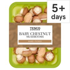 image 1 of Tesco Chestnut Baby Button Mushrooms 150G