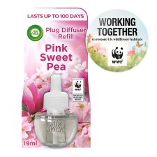 Airwick Air Freshener Plug In Refill Pink Sweet Pea 17 Ml