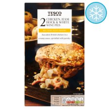 Tesco 2 Chicken Ham Hock And White Wine Pies 440G