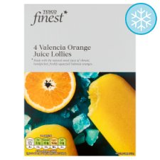 Tesco Finest Valencia Orange Juice Lollies 4 X 73Ml