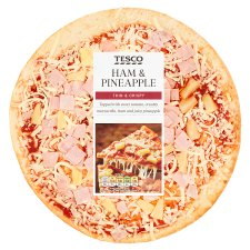 Tesco Ham And Pineapple Pizza 316G