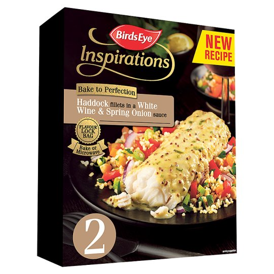 Birds Eye Inspirations 2 Haddock Fillets White Wine Sauce 280G