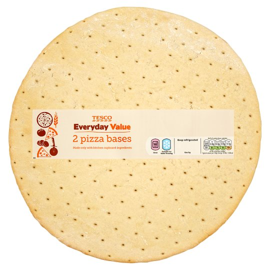 Tesco Everyday Value 2 Pizza Bases 500G