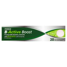 Tesco B Active Boost 20'S Effervescent