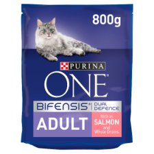 image 1 of Purina One Cat Adult Salmon And Whole Grain 800G