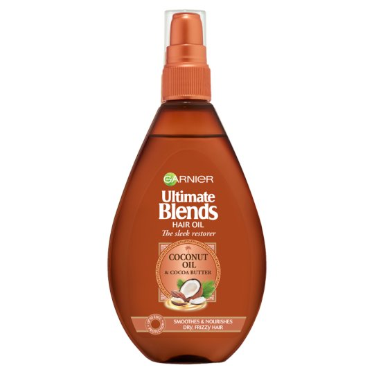 image 1 of Garnier Ultimate Blends Coconut Hair Oil Frizzy Hair 150 Ml