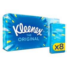 Kleenex Original Pocket Tissues 8 Pack 9S