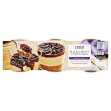 Tesco Blackcurrant Cheesecake 3 X100g