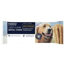 Tesco Deep Clean Dental Chew Adult Chicken 80G