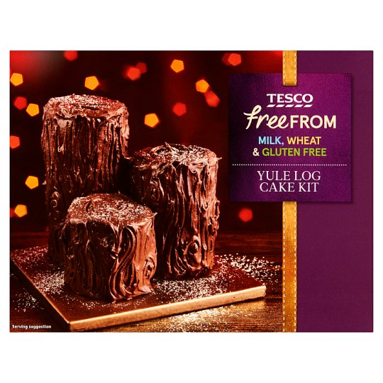 Tesco Free From Yule Log Cake Kit 450G
