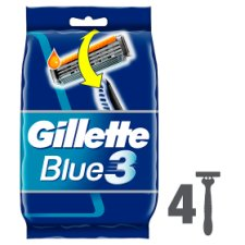 Gillette Blue3 Disposable Razors 4 Pack