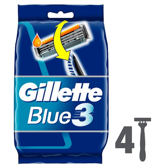 image 1 of Gillette Blue3 Disposable Razors 4 Pack