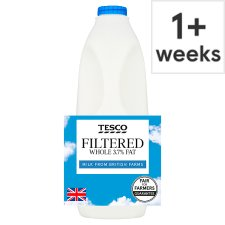 Tesco Filtered Whole Milk 2 Litre