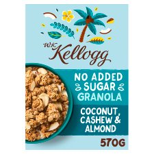 Wk Kelloggs No Added Sugar Coconut Granola 570G
