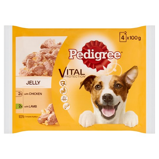 image 1 of Pedigree Jelly Chicken Lamb Dog Pouches 4 X100g