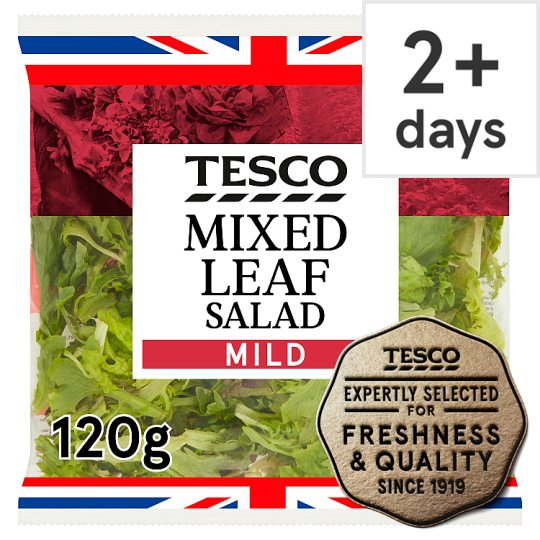Tesco Mixed Leaf 120G