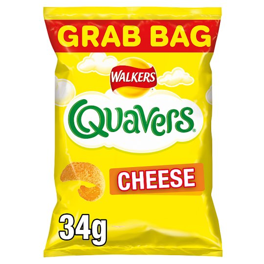 Walkers Quavers Cheese Snacks Grab Bag 34 G