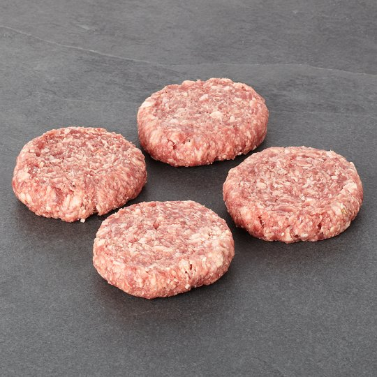 Tesco Finest 4 British Beef Steak Burgers 454G