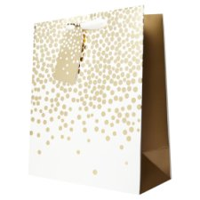 Tesco Ivory Gold Spot Bag Large