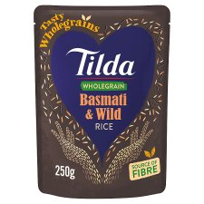 Tilda Brown And Wild Steamed Basmati Rice 250G