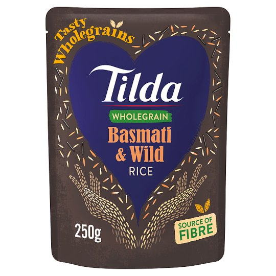Tilda Steamed Wholegrain And Wild Basmati Rice 250G