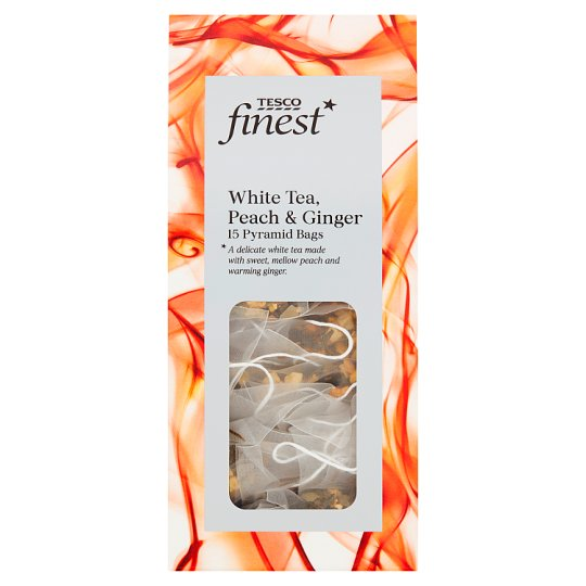 Tesco Finest White Tea Peach And Ginger 15 Bags 30G