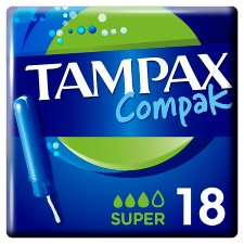 Tampax Compak Super Applicator Tampons 18