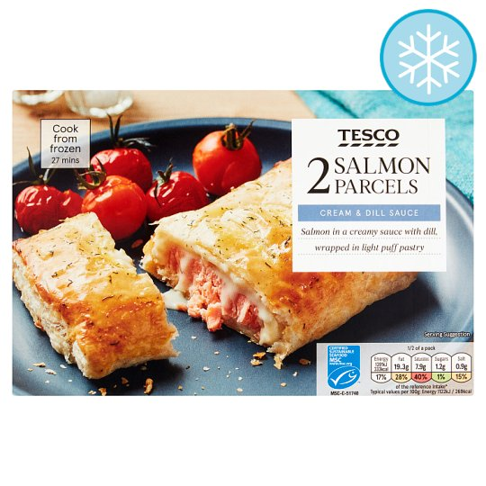 Tesco Simply Salmon And Dill Parcels 275G