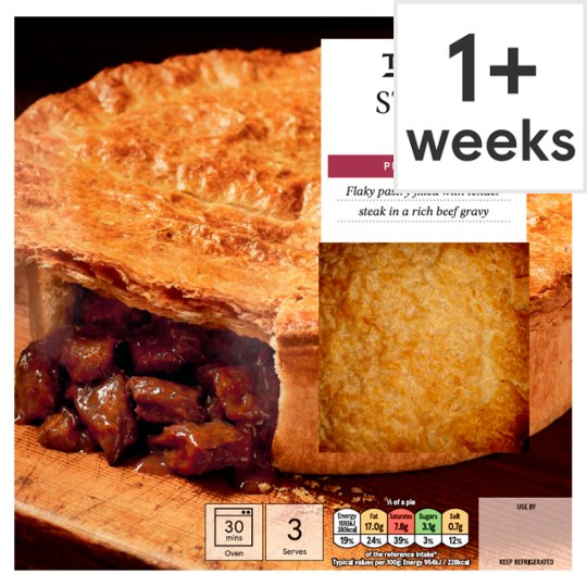 Tesco Steak Puff Pastry Pie 500G