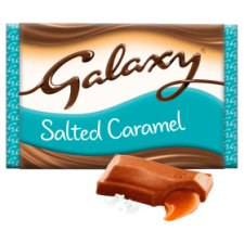 image 2 of Galaxy Salted Caramel Chocolate Bar 135G