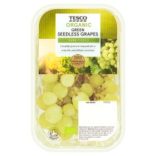 Tesco Organic Green Grapes 400G