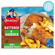 Birds Eye 4 Battered Haddock Fillets 440G
