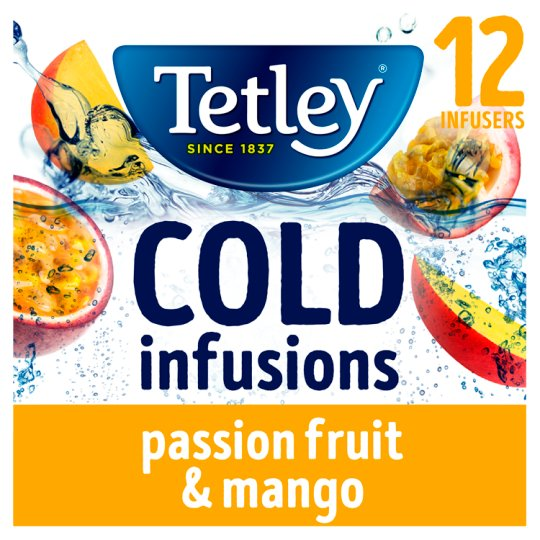 Tetley 12 Cold Infusions Passion Fruit And Mango 27G